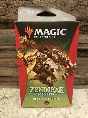 Magic: The Gathering-Zendikar Rising-RED Theme Booster Pack. Factory Sealed.