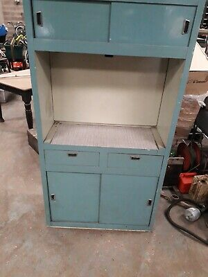 Retro vintage kitchen cabinet
