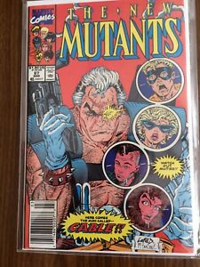 New Mutants 87 nm condition newsstand edition