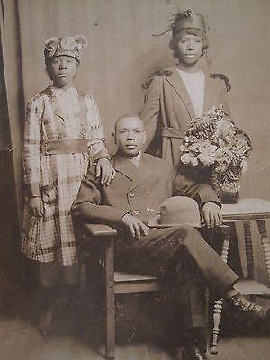 VINTAGE ANTIQUE AFRICAN AMERICAN ID'D ARTERBERY FASHION BLACK HISTORY RPPC PHOTO