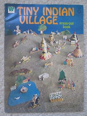 TINY INDIAN VILLAGE~Press-Out Book~1973 WHITMAN~