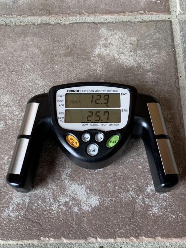 Omron HBF-306C Fat Loss BMI Monitor Tracker - Black Fully Tested