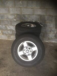 4 x 16' Tyres and alloy rims West Moonah Glenorchy Area Preview