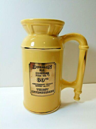 Thirst Extinguisher Mug Pitcher Dunell NJ Fire Co. #1 80th Anniversary 1976