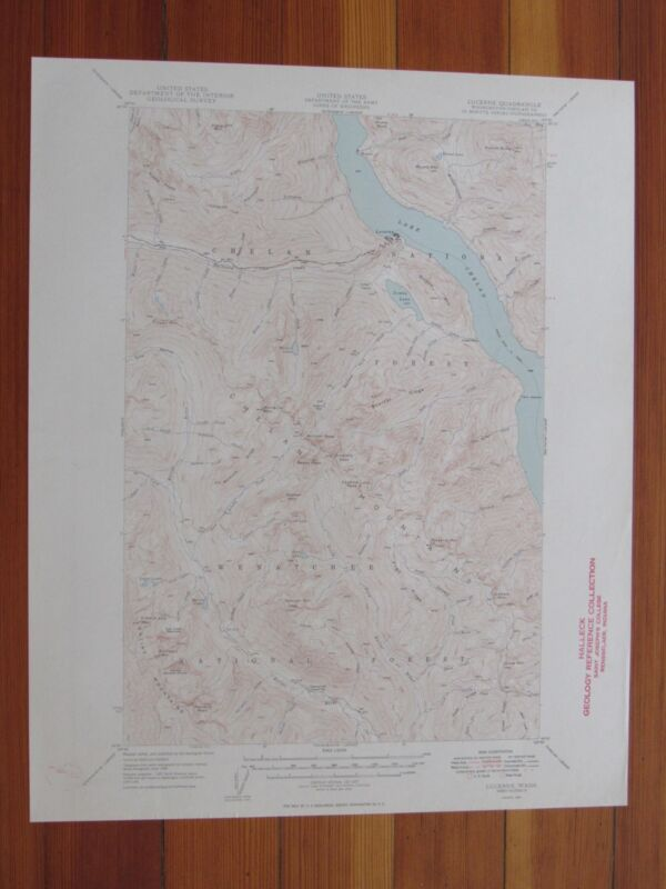Lucerne Washington 1949 Original Vintage USGS Topo Map