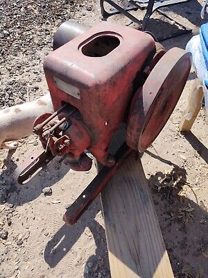 International Harvester Engine Hit And Miss Hit N Miss 1930s 1940s Red
