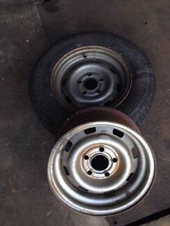 Torana Steel rims 13x 7's Holden early stud pattern Burpengary Caboolture Area Preview