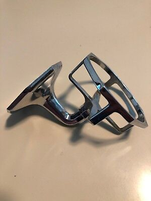 Vtg NOS Chrome Open Type Tumbler Holder Wall Mount Deco Octagon Art Deco Camper