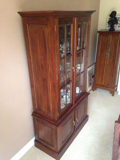 Display Cabinet - Indonesian Mahogany, Victorian Style