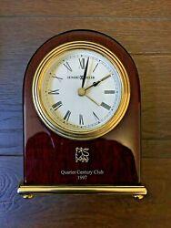 Vintage Howard Miller Quarter Century Club 1997 Desk Alarm Clock Model 645334