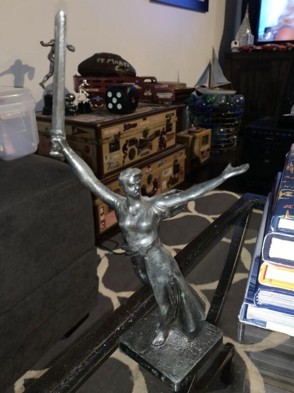 Figurine Motherland Statue Sculpture Russian VTG Stalingrad Volgograd Cast Metal