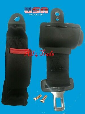 1 Universal Car Seat Belt Lap 2 Point Safety Travel Adjustable Retractable Auto  for sale  Shipping to South Africa