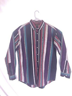 Table Striped (Vintage Knights Of The Round Table Striped Button Down Dress Shirt)