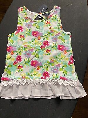 NWT Nautica Girls Size 6 Off Top Summer Spring