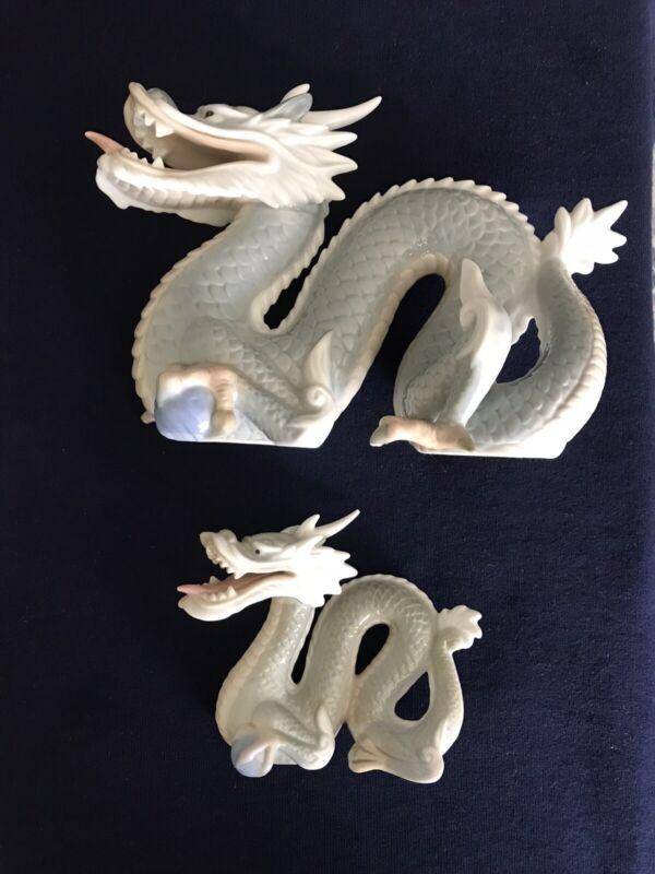 """Vintage Japanese Signed Yoshimi K Porcelain Dragon Figurine Made in Japan 5"""""""