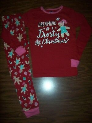 Girls Christmas Pajamas Size 12 (Little Girls Carter's DREAMING OF A FROSTY CHRISTMAS Pajamas Size 12  NEW  NWT)