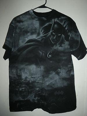 BATMAN Dark Knight DC COMICS Joke rBig print tee black t shirt adult  - Adult Joke Comics