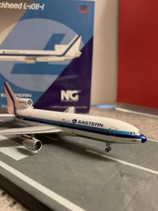 "NG Models Eastern ""DELIVERY COLOR/WHITE HOCKEY STICK"" L-1011-1 N309EA"