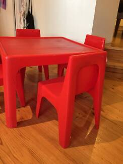 Very Sturdy plastic chairs and a table for kids Brighton East Bayside Area Preview