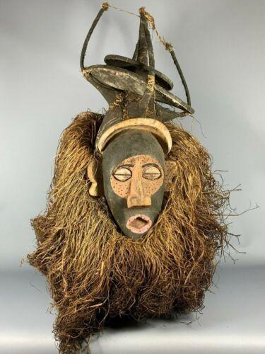 200231 - Old & Rare Tribal used African Yaka mask - Congo.
