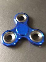 Blue Metallic Triple Finger Hand Spinner Fidget Spinning Toy Steel Bearing - unbranded - ebay.co.uk