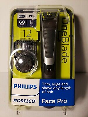 Philips Norelco OneBlade Face Pro Hybrid Styler Trimmer + Shaver | QP6510/70