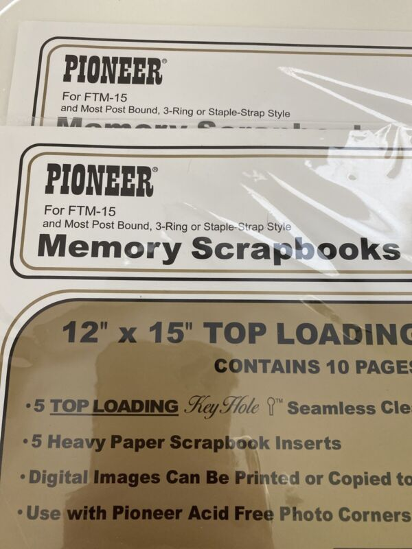2 Pioneer Memory Books 12 x 15 Top Loading Refill RW-15 10 Pages 5 sheets FTM-15