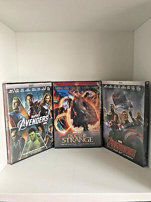 Doctor Strange   Avengers   Avengers  Age Of Ultron Package  Dvd  2017