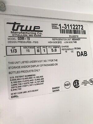 1 Evaporator Shroud For True Gdm-19 One Glass Door Refrigerator. 1 Part Only