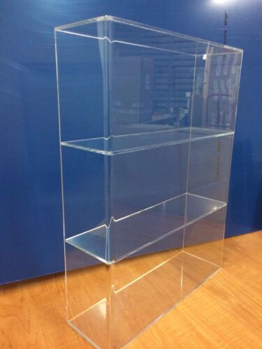 """DS-Acrylic Lucite Countertop Display Case ShowCase Cabinet 14""""w x 4 1/4"""" x 19""""h"""