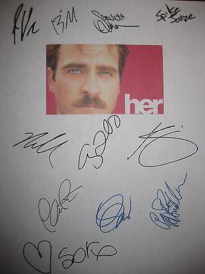 Her Signed Film Script X11 Joaquin Phoenix Chris Pratt Amy Adams Johansson repnt
