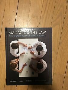 Managing the law 4th edition plus access code.