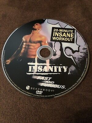 Insanity 20 Minute INSANE WORKOUT (Fast and Furious) DVD