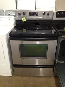 3 year old whirlpool stainless glass top stove