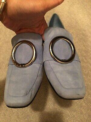 dorateymur baby blue suede loafer 38