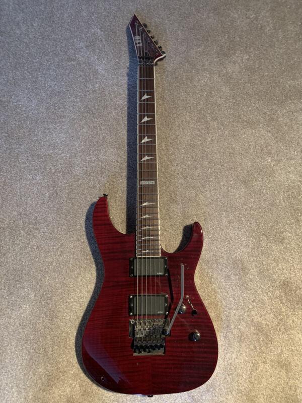 ESP LTD M300 FM EMG 81 PICKUP RED MAPLE FLOYD ROSE GUITAR