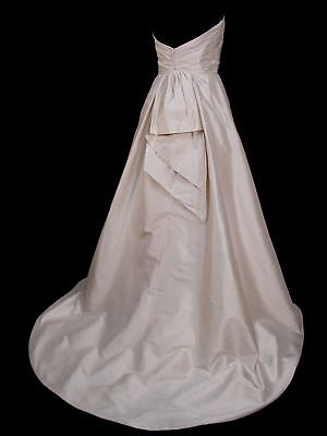 Classic A-Line Silk Paloma Blanca Bridal Gown Wedding Dress 10