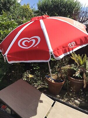 Garden Parasol Retro Decor Walls Ice Cream Red Commercial Issue NEW Very Rare