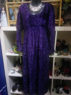 PURPLE SARI  DRESS