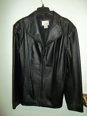 Womens East 5th Genuine Leather Jacket Size LG