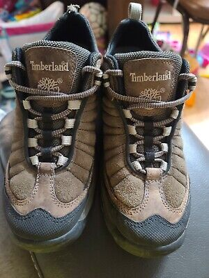 Men's Timberland Low-top Boots Hiking Camping Leather Brown Work Shoes Sz 7