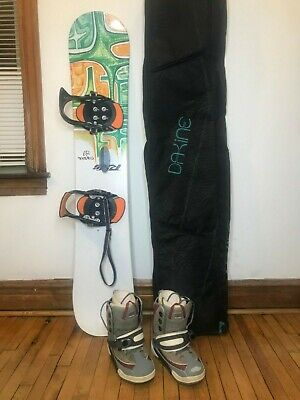 RIDE Control SNOWBOARD 149CM w/Burton Bindings and Boots Womans 8 US size + Bag