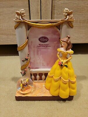 Beauty And The Beast Belle Snow globe Picture Cogsworth Frame NEW
