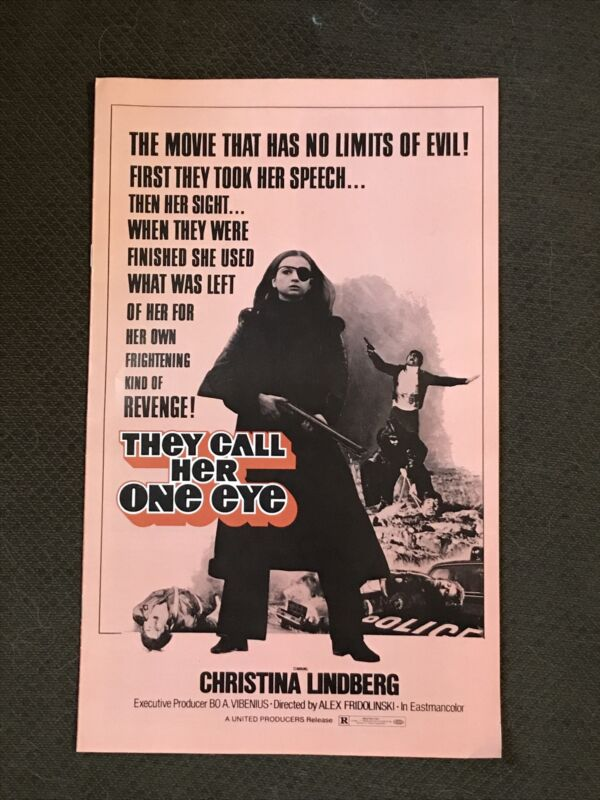They Call Her One Eye - Original 1973 Pressbook - Christina Lindberg