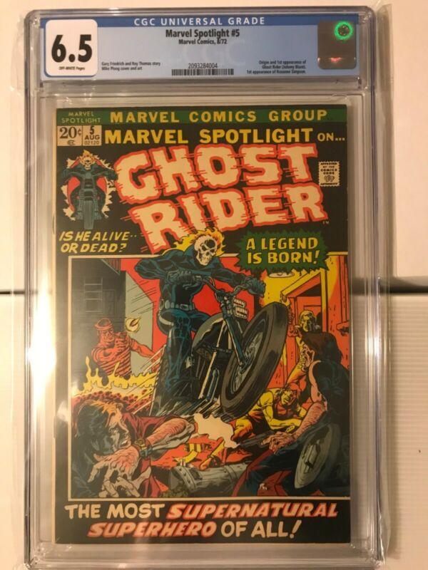 MARVEL SPOTLIGHT #5 CGC 6.5 KEY Origin & 1st appearance of GHOST RIDER 1972