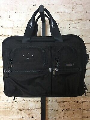 TUMI T-Pass Black Nylon Multi-Pocket Expandable Laptop Briefcase