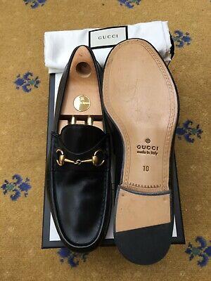 Gucci Mens Shoes Black Leather Horsebit Loafers UK 10 US 11 EU 44 1953