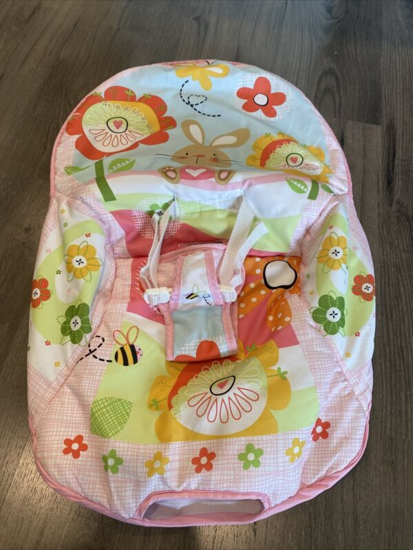 Fisher-Price Infant-to-Toddler Rocker Pink Bunny Cover Cushion Part Replacement