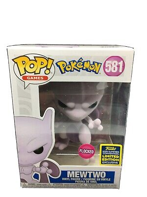 Funko POP SDCC 2020 Exclusive Pokemon Mewtwo (Flocked) CONFIRMED PRE-ORDER