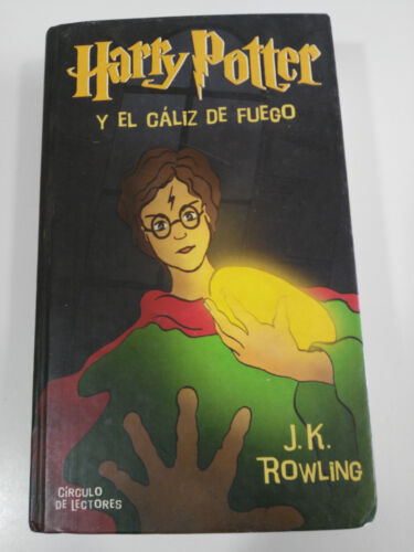 HARRY POTTER And el Goblet de Fire J.K Rowling Book Cover Hard Circle Reader Am